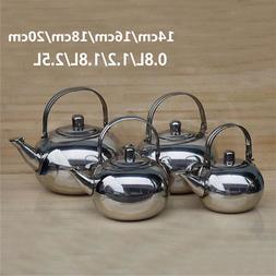 0.8/1.2/1.8/2.5L Stainless Steel Teapot Coffee Pot with Tea