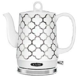 BELLA  1.2 Liter Electric Tea Kettle, Silver Tile