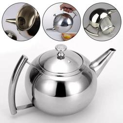 1-2L Large Stainless Steel Teapot Stovetop Kettle Coffee Pot