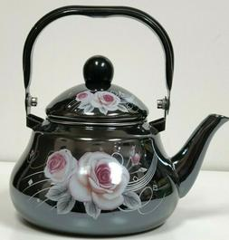 1.5 L  Tea Pot  Enamel Coated Kettle  with floral design