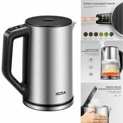 1.5L Electric Kettle Stainless Coffee Hot Water Boiler Warm