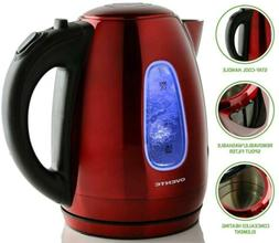 Ovente 1.7 Liter BPA-Free Stainless Steel Cordless Electric