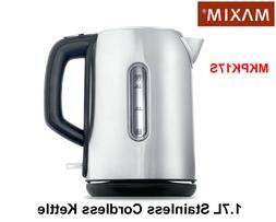 Maxim 1.7 Litre Stainless Cordless Kettle Motel/Hotel Water