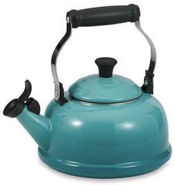 Le Creuset 1.7 Qt Enamel-on-Steel Whistling Tea Kettle Turqu