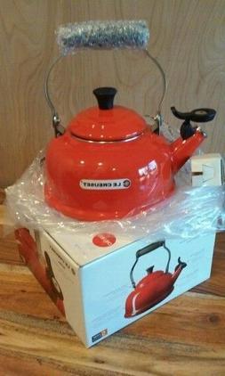 Le Creuset 1.7 Quart Chili Red Enameled Tea Kettle Kitchen T