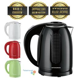 Ovente 1.7 Liter Electric Kettle Double Wall Stainless Steel