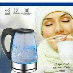 1.7L Electric Kettle Stainless Coffee Hot Water Boiler Warm
