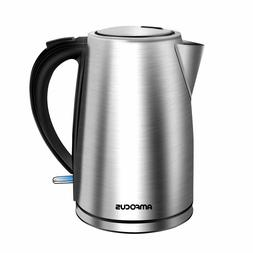 1.7L Electric Kettle Tea Stainless Steel Cordless Hot Water