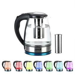 1.8L BPA-free Material Electric Glass Hot Water Kettle Colou