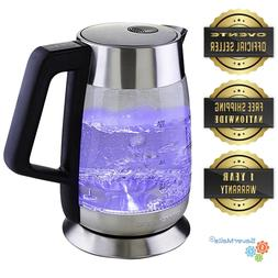 Ovente 1.8L Electric Glass Tea Kettle Temperature Control BP