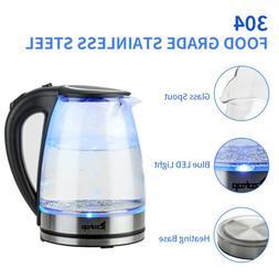 1.8L Electric Kettle Glass Tea Kettle Auto-Shut-off Fast Boi