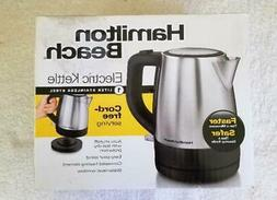 Hamilton Beach 1 Liter Cordless Electric Kettle Stainless Si