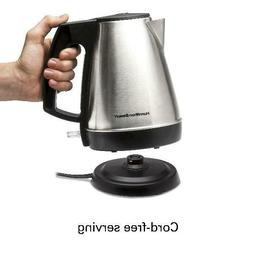 1 Liter Electric Kettle, Tea and Hot Water Heater, Stainless
