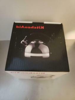 1 NEW IN BOX KITCHENAID PORCELAIN BLACK ENAMEL TEA KETTLE KI