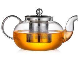 1000ml Tea Kettle High Borosilicate Glass Teapot Tea Maker w
