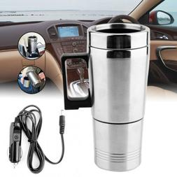 12V Car Stainless Steel Electric Kettle Coffee Tea Thermos W