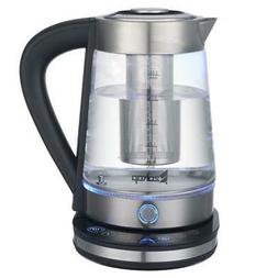 1500W 2.5L Electric Glass Kettle Hot Tea Water Double Metal