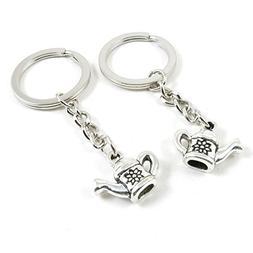 180 Pieces Fashion Jewelry Keyring Keychain Door Car Key Tag