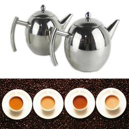 1L/1.5L Stainless Steel Durable Coffee Tea Kettles with Tea
