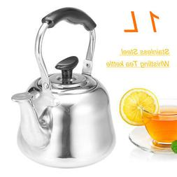 1L Stainless Steel Whistling Tea Kettle Coffee Whistle Kettl