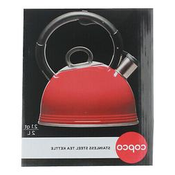 Copco 2.1 Qt Whistling Stainless Steel Tea Kettle with BPA F