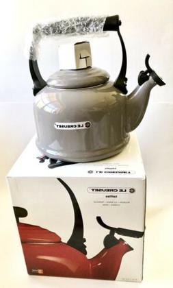 LE CREUSET 2.1L  Gray Whistling Vitreous Enamel Tea Kettle-