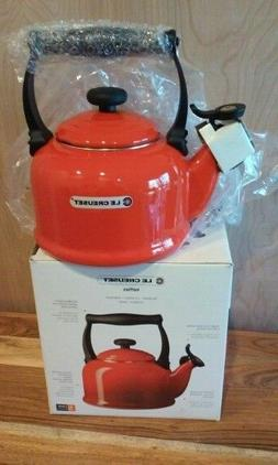 Le Creuset 2.2 Quart Chili Red Enameled Tea Kettle Kitchen T