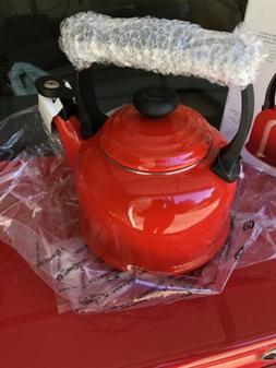 Le Creuset 2.2 Quart Chili Red Enameled Tea Kettle BNIB