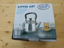 stainless steel 18 10 tea pot whistling