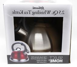 Kitchenworks 2.5 Qt Whistling Tea Kettle Brushed Stainless S