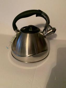 2 6qt brushed retro large tea kettle