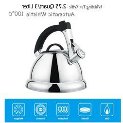 2.75 QT/3LStainless Steel Whisting Tea Kettle Premium Audibl