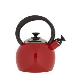 Copco 1-1/2-Quart Enamel on Steel Camden Tea Kettle, Red