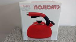 Circulon 2 Qt. Morning Bird Teakettle Bell Pepper Red! NEW!!