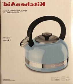 KITCHENAID 2 QUART TEA KETTLE FULL HANDLE TRIM BAND PORCELAI