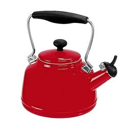Chantal 2 Quart Vintage Tea Kettle Red