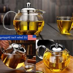 20-45 Ounce Heat Resistant Glass Teapot with Infuser&Lid Cof