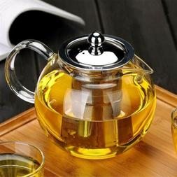 22oz / 43oz Tea Kettle Glass Teapot Tea Maker with movable I