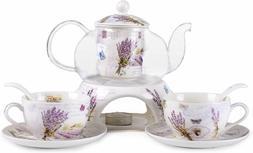 Kendal 24 oz tea maker teapot with a Porcelain warmer and 2