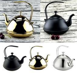 2L Tea Kettle Coffee Pot Stainless Steel Stovetop Teapot Sto