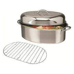 Alpine Cuisine 3 pc Stainless Steel Oval Roaster Roasting Pa