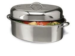 Alpine Cuisine 3 pc Stainless Steel Oval Roaster Roasting Pa