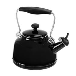 Chantal 37-VINT BK Enamel on Steel Vintage Teakettle, 1.7 qu