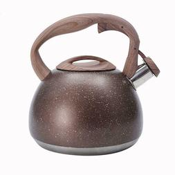3L Stainless Steel Whistle Kettle Kitchen Tea Pot Coffee Con