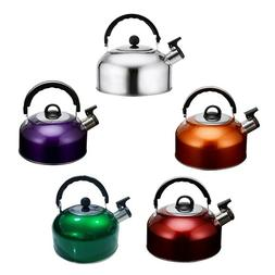 3L Whistling Tea Kettle Stainless Steel Stove Top Teapot Rou