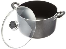 Uniware 4018-14G Non-Stick Aluminum Sauce/Stock Pot With Gla