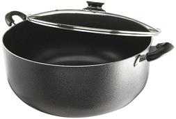 Uniware 4018-24G Non-Stick Aluminum Sauce/Stock Pot With Gla