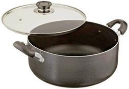 Uniware 4018 Non-Stick Aluminum Sauce/Stock Pot With Glass L