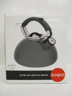 Copco 5236583 Whistling Enamel-on-Steel Tea Kettle 2.4-Quart