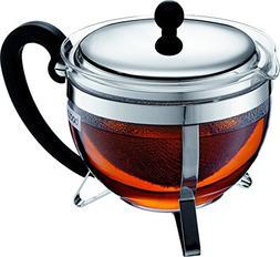 Bodum 1921-16-6 Chambord Tea Pot, 44 oz, Chrome